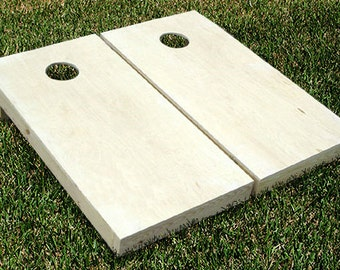 Unfinished Cornhole Bean Bag Toss Game