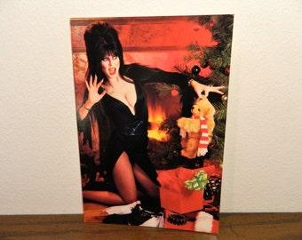 1984 Elvira Mistress Of Christmas Greeting Card