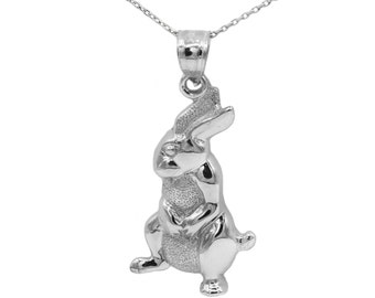 925 Sterling Silver Rabbit Necklace