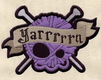 Crafting Merit Badges- Patch -Yarrrrrn Knitting Patch Small