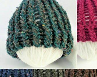 SUMMER SALE - Teal baby hat, handmade baby hat, newborn baby hat, baby boy hat, baby girl hat, baby hats, aran baby hat, newborn gifts