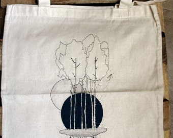 "Tote bag ""worlds parallel"""