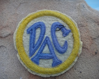 antique patch,  vintage patch, sew on patch , jacket patch, DAC patch, Dallas patch ,estate item