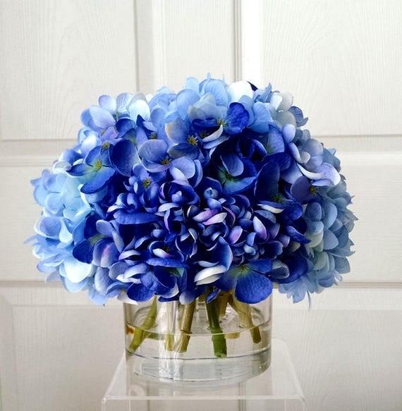Large Silk Blue Hydrangea Arrangement Flower