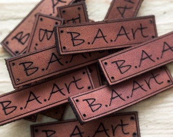 custom clothing leather labels personalized Labels tags personalized knitting labels leather tags for knitting handmade leather labels