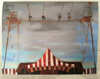 Notecards - Highwire painting