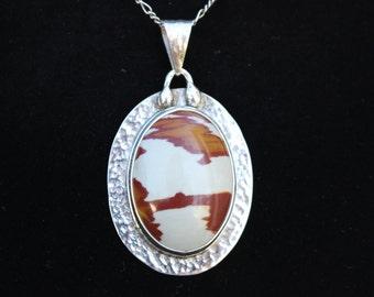 Owyhee Jasper Pendant in Sterling Silver