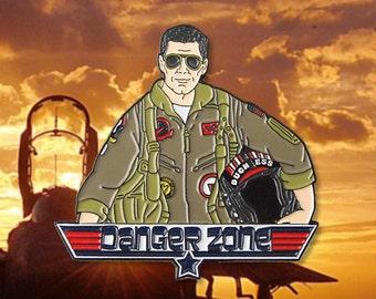 Danger Zone Archer Top Gun Enamel Pin