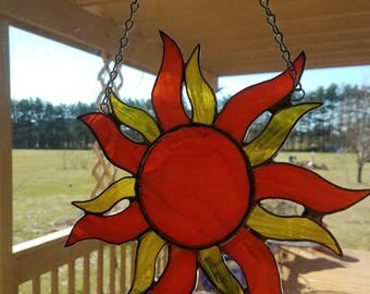 Sunny and beautiful stained glass sun catcher