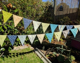 Modern  Bunting, nursery bunting, baby bunting, baby shower, nursery decor, party decorations Green, navy, yellow and turquoise