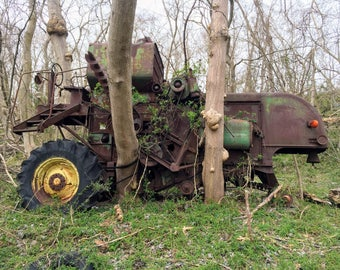 Combine Forgotten to the Woods, Charles County, Maryland, Digital Photography