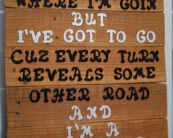 Handmade One of a Kind Reclaimed Wood Sign - Traveller
