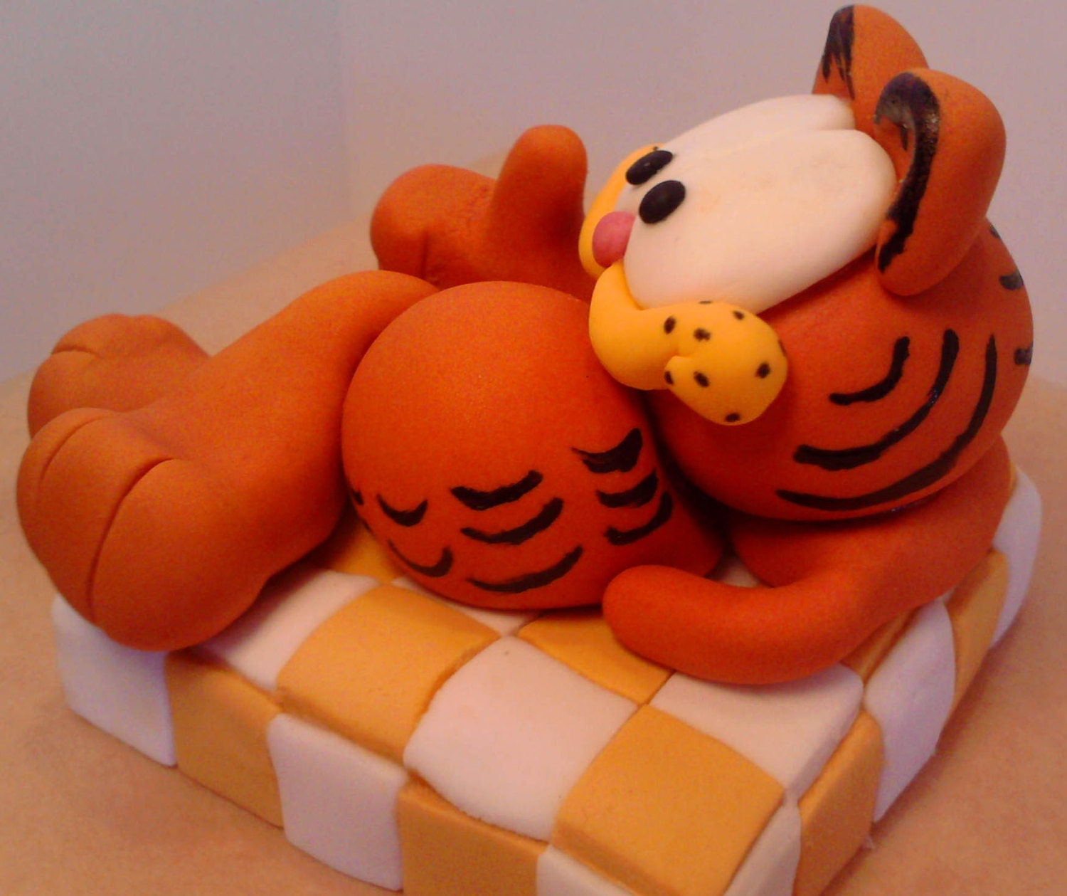 Garfield edible handmade with letters name cake toppers ...