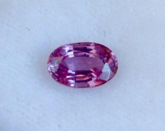 Ceylon Natural Pink Sapphire Oval Cut 6.50mm