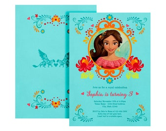 Elena of Avalor Invite, Elena Invitation, Printable Elena of Avalor Invitation, Digital File, Elena of Avalor, Birthday Party - Customized