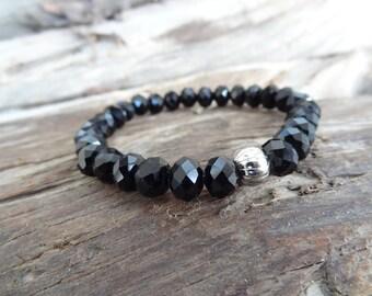 EXPRESS SHIPPING,Crystal Beads Bracelet, Black Crystal Bracelet, Womens Jewelry, Elegance,Feminine Bracelet, Gift for Her, Mother's day