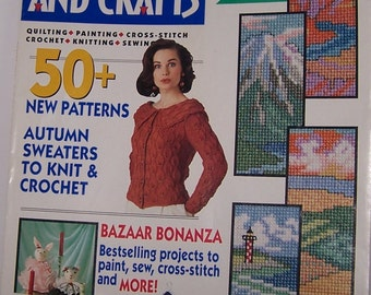 McCall's Needlework And Crafts August 1992 - 50+ New Patterns