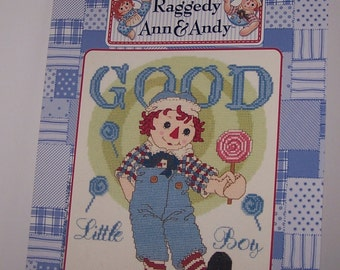 Raggedy Ann and Andy Good Little Boy Counted Cross Stitch Pattern Chart Designs By Gloria & Pat RA-108 December II-2001