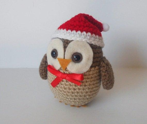 Zelda Amigurumi Patterns : Christmas Owl Amigurumi Crochet Pattern