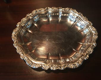 Midcentury Vintage International Silver Countess Silver Plate Bowl