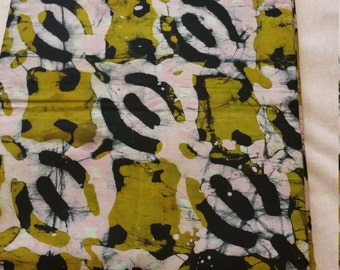 """45"""" African Batik Print Fabric,  sold by the yard"""