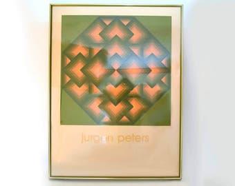 "Jurgen Peters ""Oktojou V"" Serigraph Optical Art Poster"