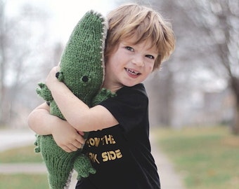 Alligator Plushie, Stuffed Animal, Baby Boy Gift, Crocodile Plush, Gator Toy, Wool Alligator, Baby Shower Gift, Kids Toy, Green Alligator