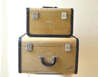 Vintage luggage train case – Etsy