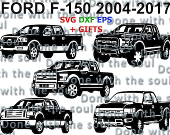 Ford F150 – Ford Pick Up  - F 150 - Ford Pickup - Car vector - Ford Digital - Ford cut - Car svg - Ford raptor – Svg Eps Dxf - Car cut file