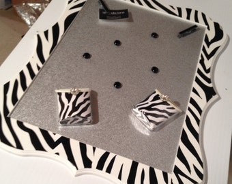 Magnetic Board,Magnetic Make-up Organizer,Zebra Print Wall Decor,Magnetic Wall Board for Kids,Decorative Magnet Board,Magnet Makeup,Zebral