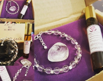 Heal and Enlighten Clear Quartz and Frankincense Gift Set