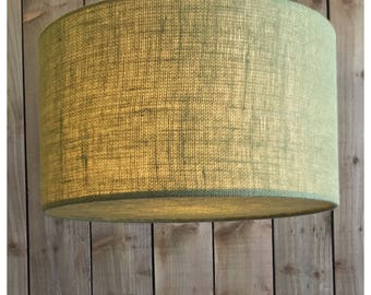 Green Hessian Light Shade & Hessian Diffuser 25cm 30cm 35cm 40cm 45cm 50cm 60cm 70cm FREE UK SHIPPING