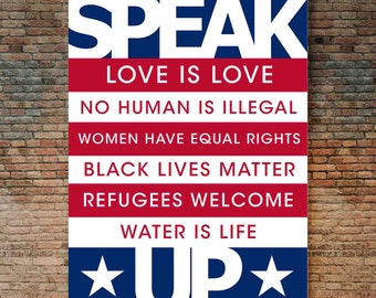 2017 Protest Sign - Rally Sign, Trump Sign, Black Lives Matter Sign, LGBTQ Sign, Women's Rights Sign, NDPL Sign