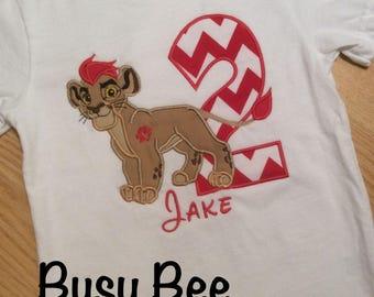 Appliqued Lion Guard Kion Birthday Shirt