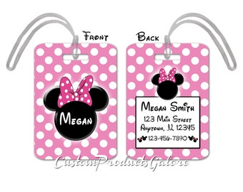Disney luggage tags | Etsy