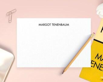 Personalized Note Cards, Margot Tenenbaum, Wes Anderson, Personalized Thank You Cards, Personalized Stationery Set