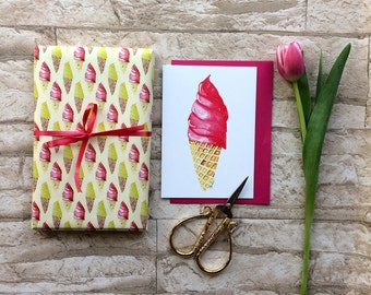 Wrapping paper ice cream