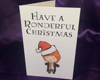 Have A Ronderful Christmas Harry Potter Inspired Christmas Card