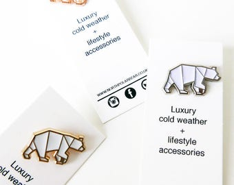 North Polar Bear Enamel Pin Set - Mixed Metals