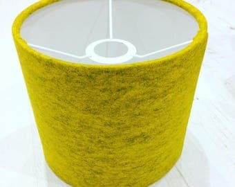 Yellow Wool Felt Lampshade - Small