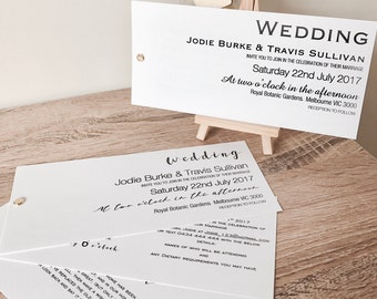 Personalised Wedding Invitation Set With Wishing Well, RSVP & Reception