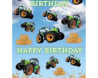 verjaardag man tractor