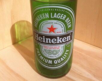 Recycled Beer Bottle Heineken Glass