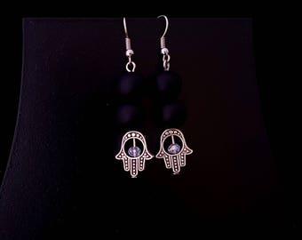 Fatima Hand Earrings, Hamsa Hand Earrings, Hamsa Earrings, Protection Earrings, Amulet Earrings, Yoga Earrings, Fatima Earrings, Zodiac Gift