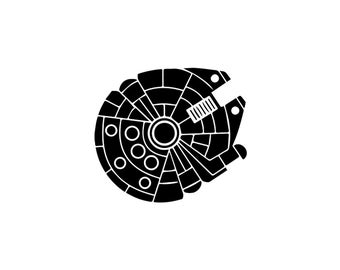 Millennium Falcon Decal - Star Wars Decal / Millennium Falcon Wall Decal