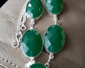 Green Quartz Necklace- 18 inches!