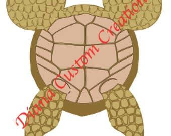 Crush Turtle Mickey Head Finding Nemo SVG Cricut Silhouette