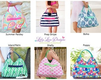 Monogrammed Large Beach Bag- fast shipping!