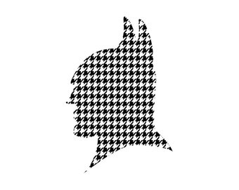 Houndstooth Craft Vinyl. UV Laminated. Various Sizes Available.