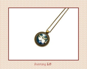 """Individual cabochon necklace """"your photo/text"""" 20mm"""